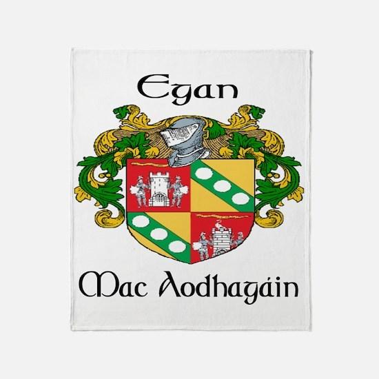 Egan in Irish & English Throw Blanket