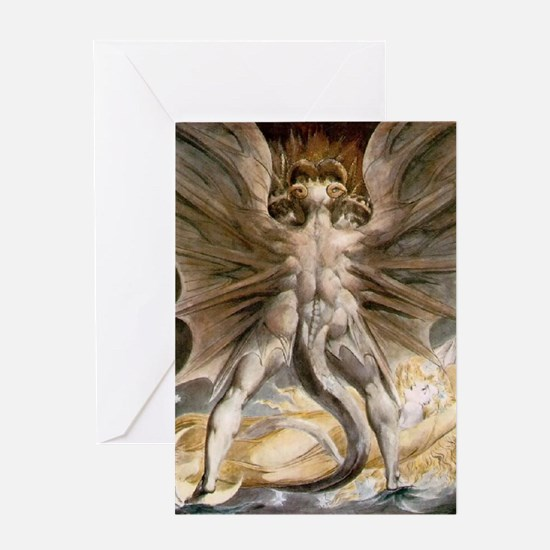 The Great Red Dragon Greeting Card