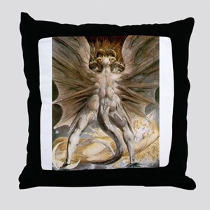 The Great Red Dragon Throw Pillow