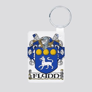 Flynn Coat of Arms Aluminum Photo Keychain