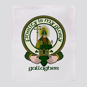 Gallagher Clan Motto Throw Blanket