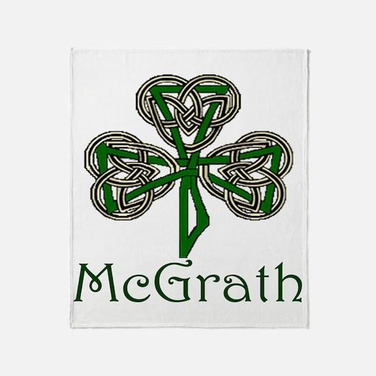 McGrath Shamrock Throw Blanket