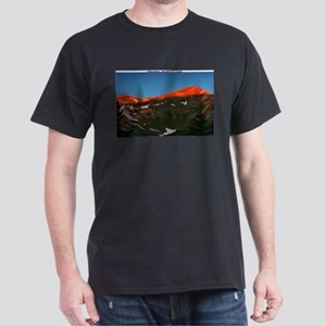 Black T-Shirt - Caldera Sunset