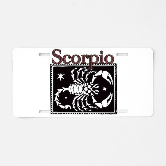 Unique Scorpio Aluminum License Plate