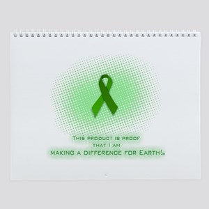 Wall Calendar Green Ribbon Certificate