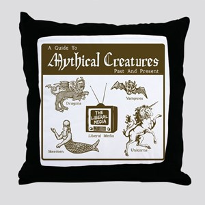 """Media Myth"" Throw Pillow"