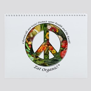 Wall Calendar Peace Organic Vegetables