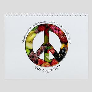 Wall Calendar Peace Organic Fruits