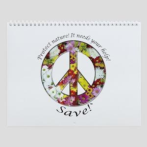 Wall Calendar Peace Flowers