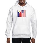Philippine & US Flags Hooded Sweatshirt