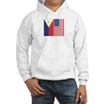 Philippine & US Flags Hooded Sweatshirt
