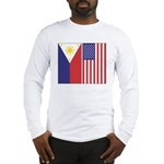 Philippine/US Flags v2 Long Sleeve T-Shi