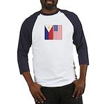 Philippine & US Flags Baseball Jersey