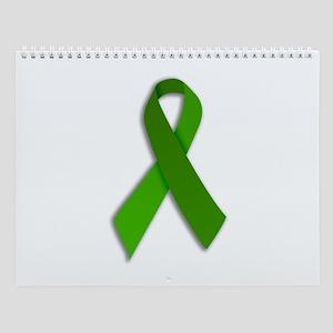 Wall Calendar Green Ribbon