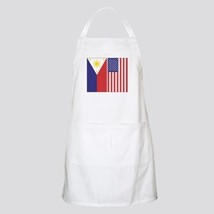 Philippine and US Flags Apron