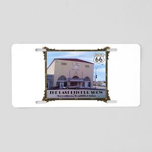 The Last Picture Show Aluminum License Plate