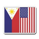 Philippine and US Flags Mousepad