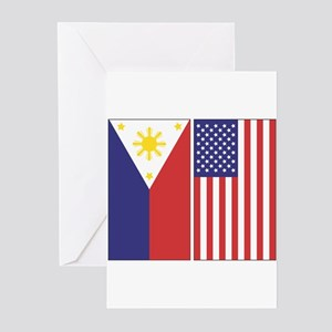 PI and US Flags Cards (Pk of 10)