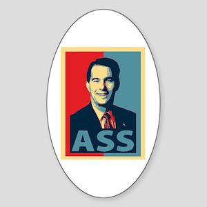Scott Walker Ass Sticker (Oval)