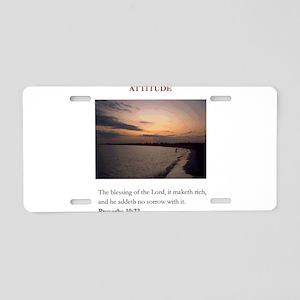 Attitude 2 Aluminum License Plate