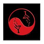 Red Zen Of Martinis Tile Coaster