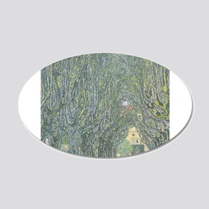 Avenue of Trees 22x14 Oval Wall Peel