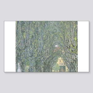 Avenue of Trees Sticker (Rectangle)