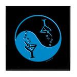 Blue Zen Of Martinis Tile Coaster