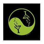 Green Zen Of Martinis Tile Coaster