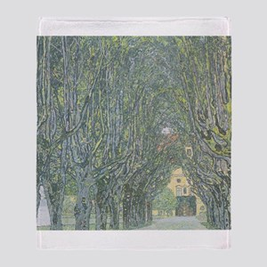 Avenue of Trees Throw Blanket