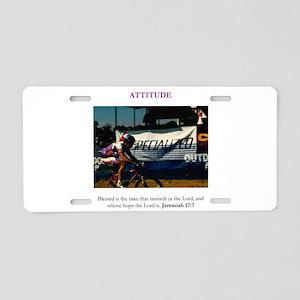 Attitude 3 Aluminum License Plate