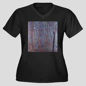 Beeches Women's Plus Size V-Neck Dark T-Shirt