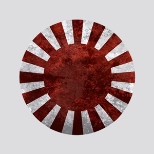 "Japanese Rising Sun Flag 3.5"" Button"