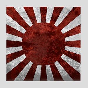 Japanese Rising Sun Flag Tile Coaster