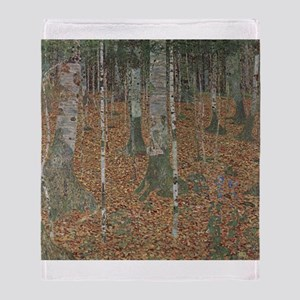 Birch Forest Throw Blanket