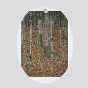 Birch Forest Ornament (Oval)