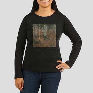 Birch Forest Women's Long Sleeve Dark T-Shirt