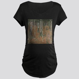 Birch Forest Maternity Dark T-Shirt