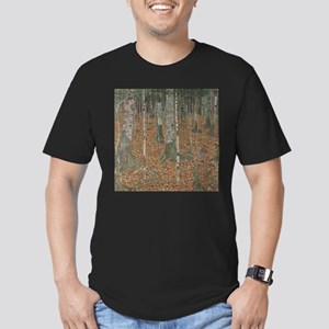 Birch Forest Men's Fitted T-Shirt (dark)