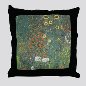 Country Garden with Sunflower Throw Pillow