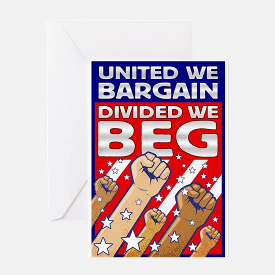 United We Bargain, Divided We Greeting Card