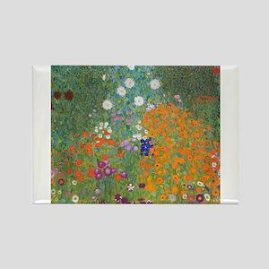 Flower Garden Rectangle Magnet