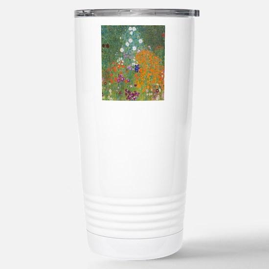Flower Garden Stainless Steel Travel Mug