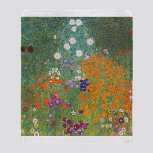 Flower Garden Throw Blanket