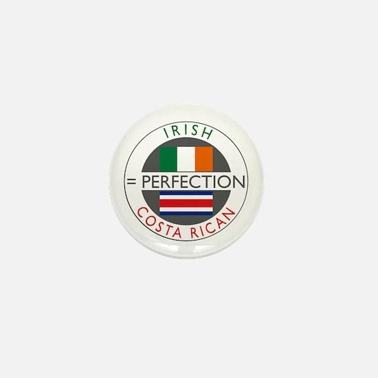 Irish Costa Rican flags Mini Button