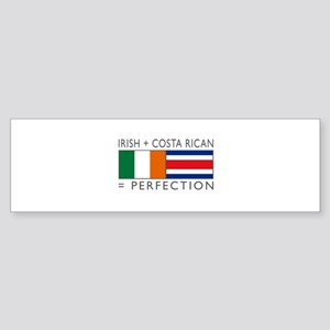 Irish Costa Rican flags Sticker (Bumper)
