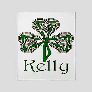 Kelly Shamrock Throw Blanket