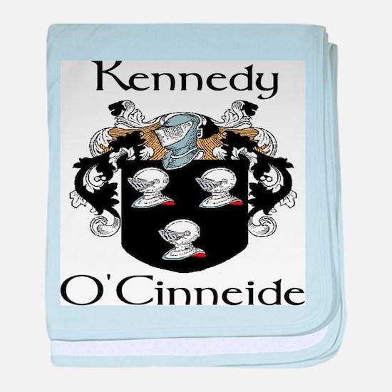 Kennedy in Irish and English baby blanket