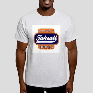Takeall Drugs Ash Grey T-Shirt