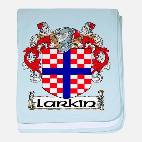 Larkin Coat of Arms baby blanket